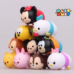 10 pcs Disney Tsum Tsum Action Figure Mickey Minnie Goofy Po