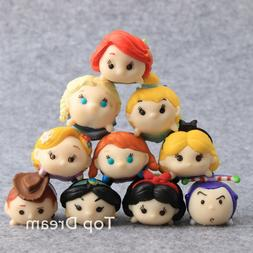 10pcs Princess & Toy Story Woody Buzz Lightyear Tsum PVC Act