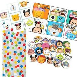 12 Guest Tsum Tsum Party Favors - Bags, Stickers, Buttons, T
