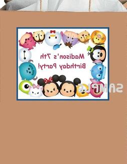 18 Personalized Tsum TsuM inspired party stickers,Birthday L