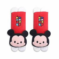 Finex 2 Pcs Tsum Tsum Mickey Mouse Minnie Mouse Plush Car Se