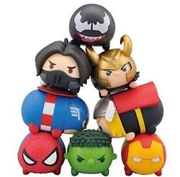 8pcs Marvel The avengers Tsum Stack Vinyl Action Figures Bal