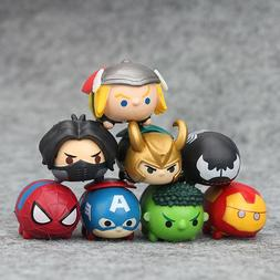 8pcs/set Tsum Tsum The Avengers Hulk Mini PVC Action Figure