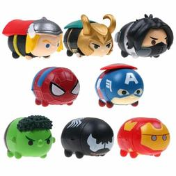 8pcs The avengers Tsum Stack Vinyl Action Figures Balancing