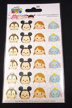 96 Disney Tsum Tsum stickers 4 sheets of 24 teacher supply p