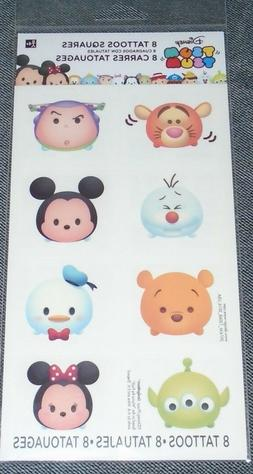 @*DISNEY TSUM TSUM 16 PACK OF TEMPORARY TATTOOS@PARTY FAVORS