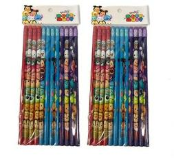 DISNEY TSUM TSUM 24x Pencils School stationary Supplies part