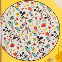 Disney Round Tsum Tsum Mickey Minnie Beach Towel Cotton 5 Fe