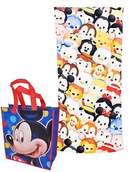 Disney Tsum Tsum Beach Towel 58x28 & Large Mickey Tote Bag 2