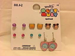 "Disney ""Tsum Tsum"" Earrings 6 pack"
