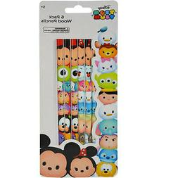Disney Tsum Tsum School Kids 6pk Wood Pencils +5 Prizes Part