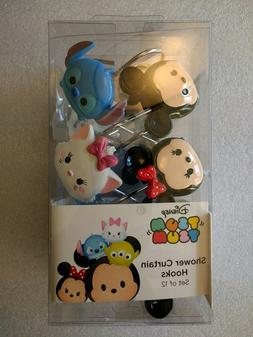 New Disney Tsum Tsum Shower Curtain Hooks Set Of 12