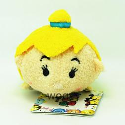 "New Tsum Tsum 3 1/2"" Tinker Bell plush Toy Doll Screen wipe"