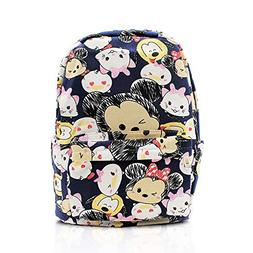 Finex Blue Tsum Tsum Canvas Backpack with Laptop Storage Com