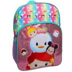 "BNWT Disney Tsum Tsum 16"" School Backpack Ariel, Daisy Duck,"