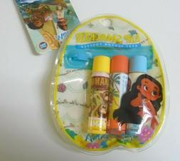 Disney Moana Lip Smackers 3 Assorted Flavors in Carrying Pou