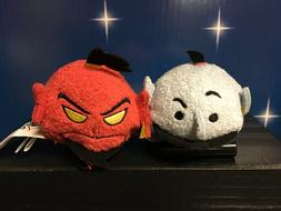 Disney Tsum Tsum Reversible JAFAR & RED GENIE With BLUE GENI