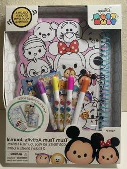 Disney's Tsum Tsum Activity Journal 60 pages: Color and Stic