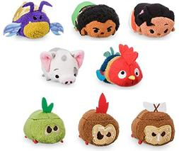 "Disney Store Moana Set of 8 Mini Tsum Tsums 3.5"" Plush Toy"