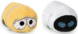 Disney Store Pixar Mini Tsum Tsum Wall-E Set of 2 Stuffed 3.