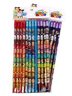Disney Tsum Tsum Wood Pencils, 2 packs of 12