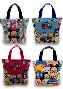 Finex Set of 2 Tsum Tsum Canvas Zippered Tote with Carry Han