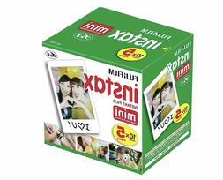 Fujifilm Instax Mini Instant Film, 10 Sheets×5 Pack, BRAND