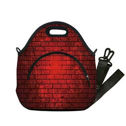 Insulated Lunch Bag,Neoprene Lunch Tote Bags,Maroon,Dark and