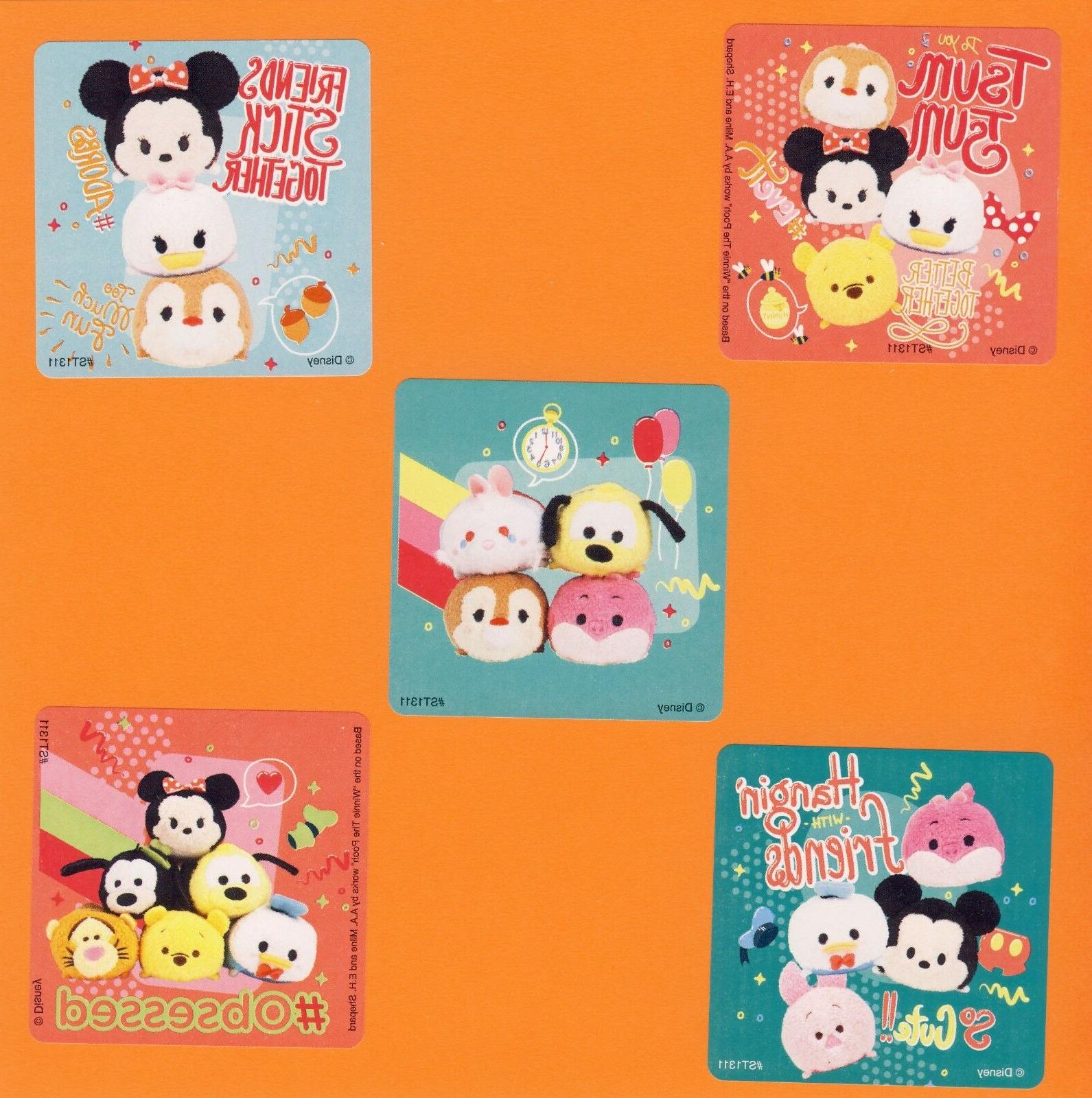 15 Disney Tsum Tsum - Large Stickers - Minnie Mouse, Daisy D