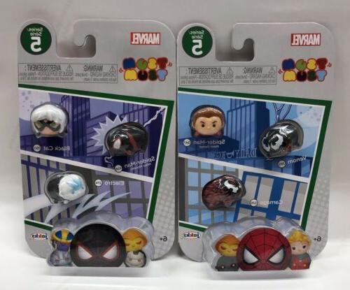 2 X Marvel Spider-man Tsum Tsum 3-pack Series 5 Sealed
