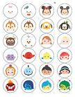24 Disney Tsum Tsum Sticker Labels Bag Lollipop Seals Birthd