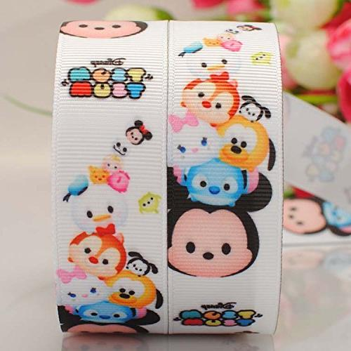 "Tsum Tsum 3/"" wide grosgrain ribbon 2 yards listing"