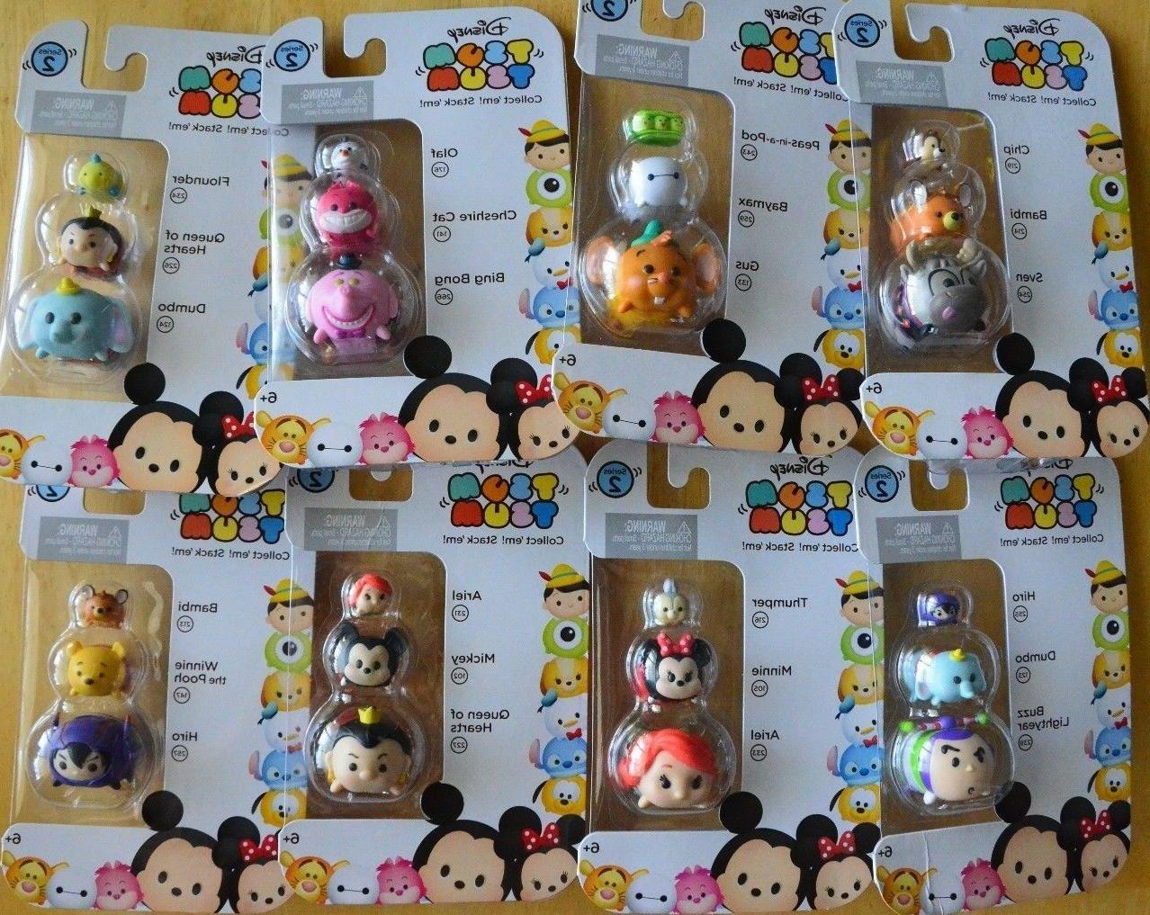 8 DIFFERENT Tsum Tsum Disney LOT 3 PACK SERIES 2 figure toy