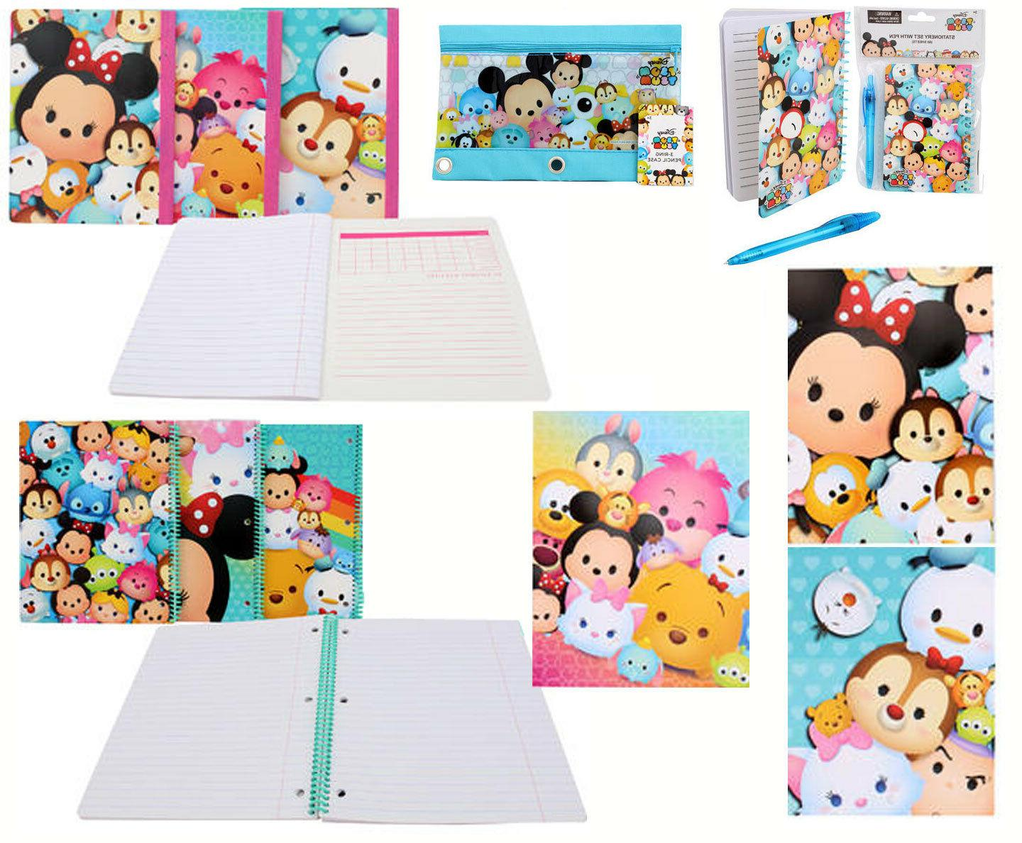DISNEY Tsum Tsum 6pc Stationary Gift Set Folder Notebook Dia