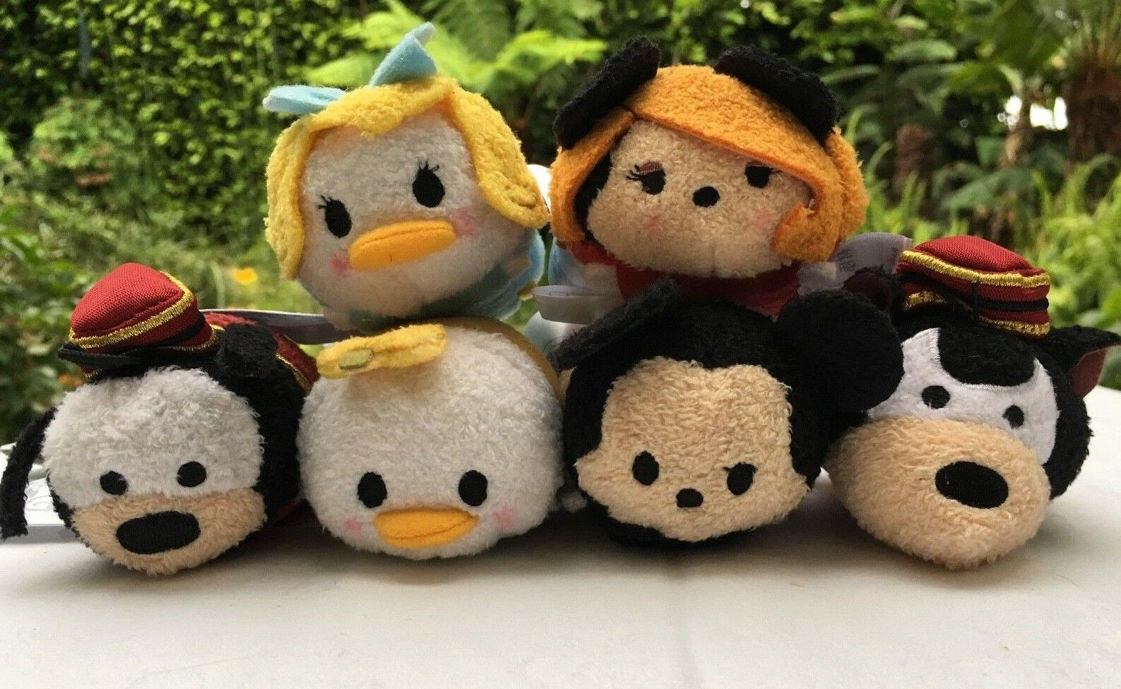 "Disney Parks ""Tower of Terror"" Set Of 6 Tsum Tsum 3 1/2"" Min"