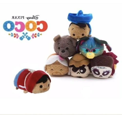 Disney Pixar COCO Tsum Tsum Plush Set of 7 Mini 3 ½""