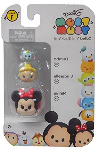 Disney Tsum Tsum 3 Pack - Dumbo , Cinderella , Minnie Mouse