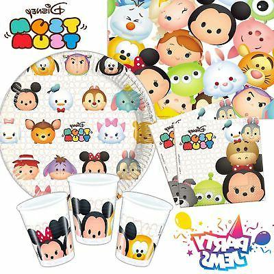 Disney Tsum Tsum Birthday Party Tableware Napkins Cups Plate