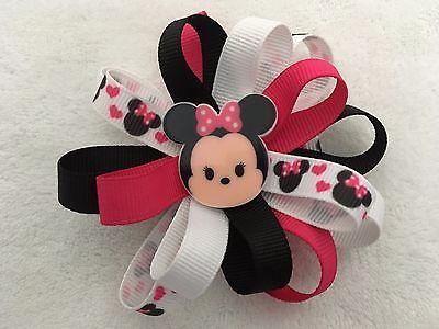 "Girls Hair Bow 4/"" Wide Snow White Yellow Grosgrain Ribbon French Barrette"
