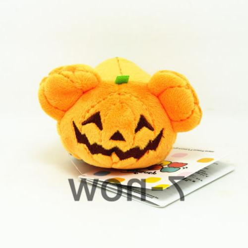 "New TSUM TSUM Halloween Pumpkin Mickey mini 3.5/"" Plush Toy Doll"