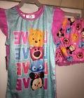 New Disney Tsum Tsum Girls 2 Piece Pajama Set Size 4/5 Tank/