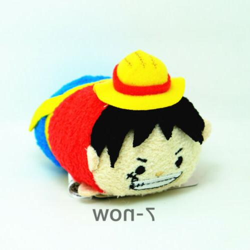 2PCS Set  One Piece  Monkey D Luffy + Trafalgar Law Tsum Tsu