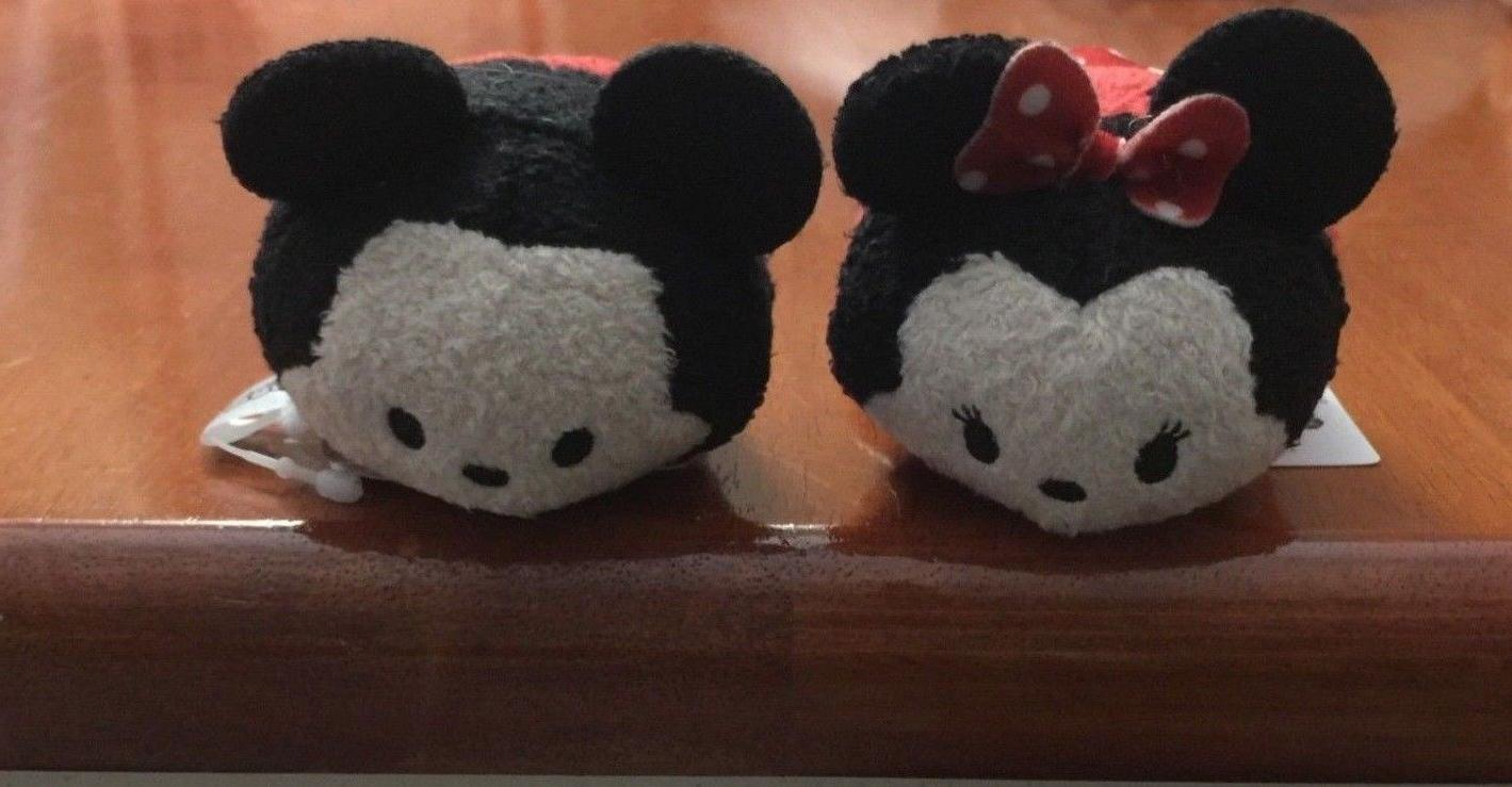 Tsum Tsum Mini Plush Mickey Mouse and Minnie Mouse With Tags