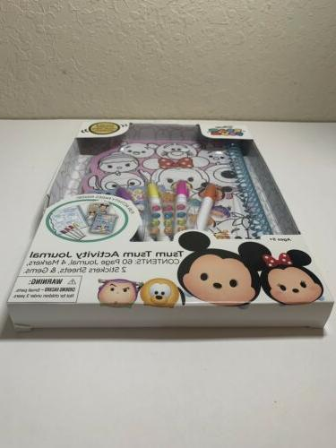 Disney's Tsum Activity Journal pages: and Sticker own Journal