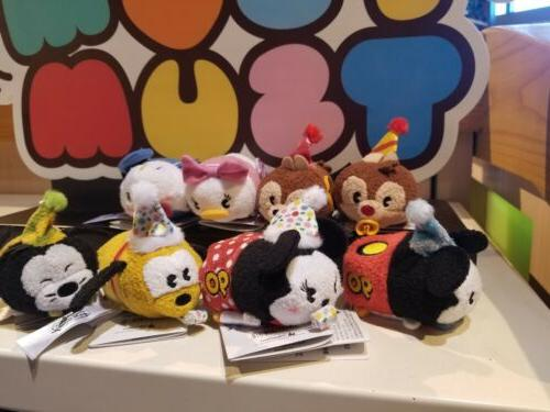 Disney Parks Mouse Mickey's 90th Birthday Tsum Set Of Plush 3""