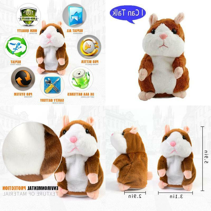 plush interactive toys pro talking hamster repeats