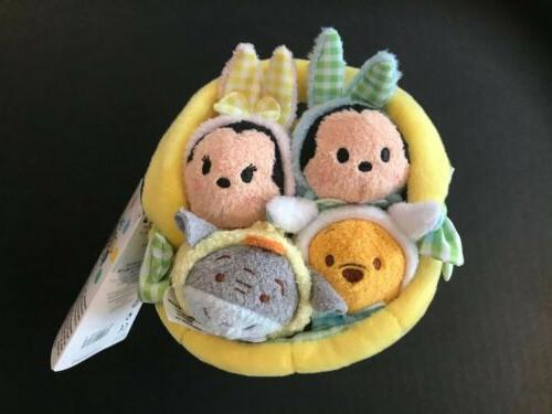 tsum tsum easter plush set basket mickey