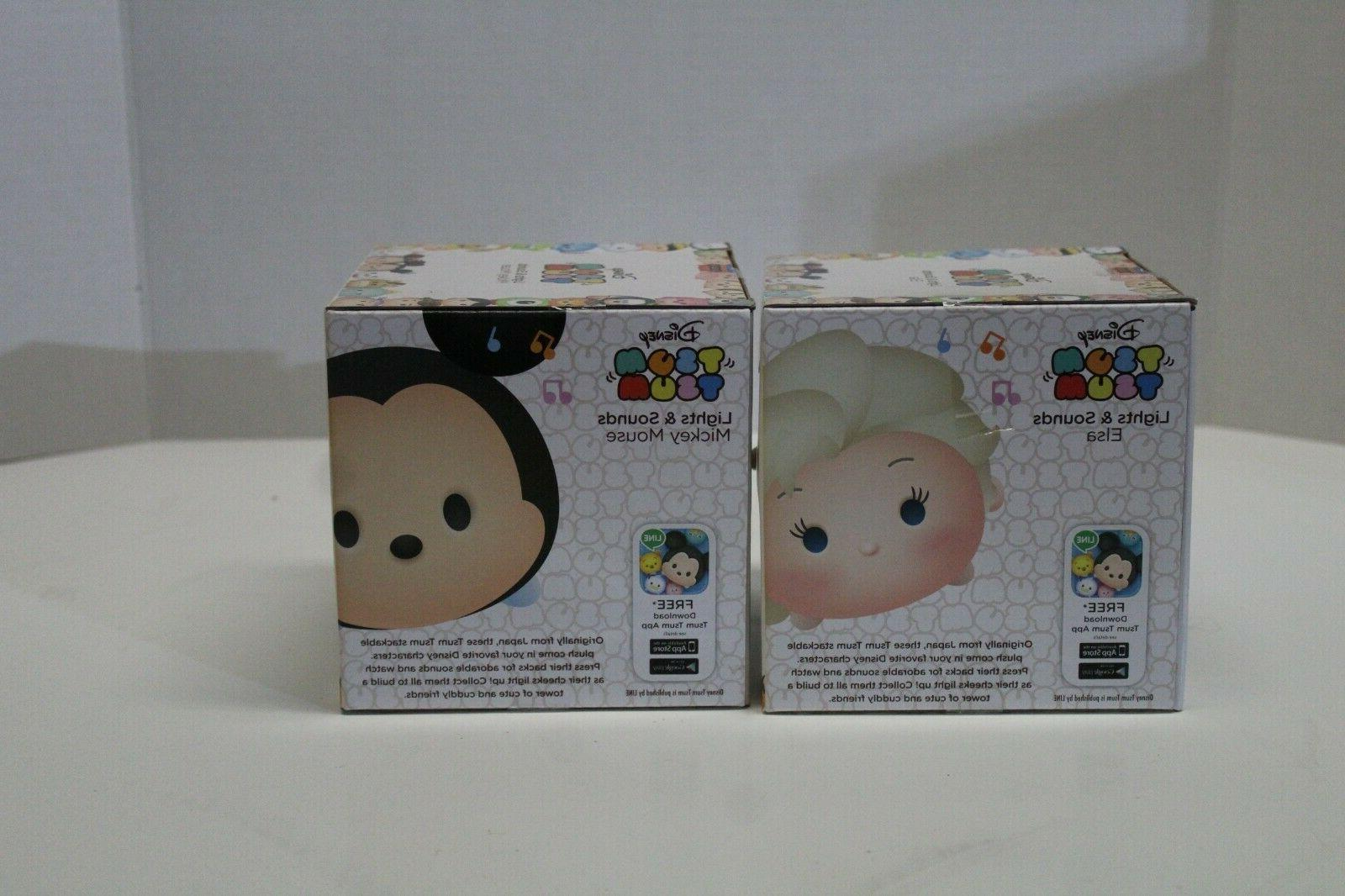 Disney Tsum and Sounds Elsa Mickey Dolls