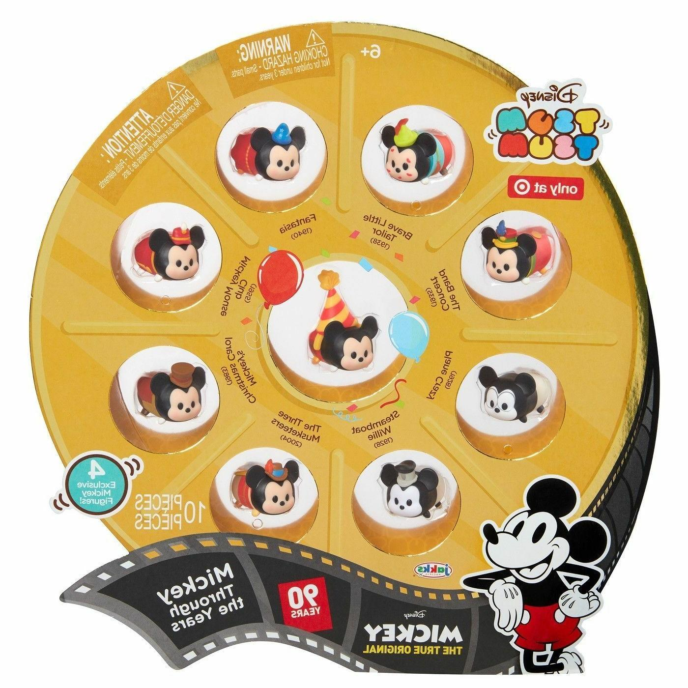tsum tsum mickey mouse 90th anniversary 10pc