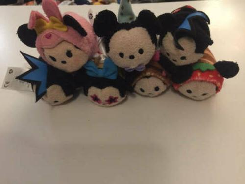 "Disney TSUM TSUM Minnie Mickey 3.5"" Mini Lot ct"